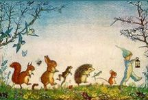 Illustration * / BRETT English illustrator & children's author. POTTER English, wrote a series of beloved children's books like Peter Rabbit. VAN LEEUWEN prolific Dutch illustrator and author of children's books