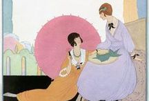 Illustration V * / STERRET  American illustrator whose life was cut short by tuberculosis. Despite her illness, she managed to produce fantastical images to accompany three books - Old French Fairy Tales, Tanglewood Tales, and Arabian Nights. LATHROP (1891 - 1980) was an American writer and award-winning illustrator of children's books - 9 she had written herself, 6 written by friend Walter de la Mare, and numerous others, particularly fantasy and fairy tales. She was also an accomplished printmaker.