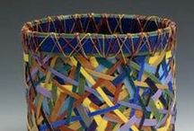 Baskets / ABRAMS has worked in fibre for over 40 years.  TELLES was a Mono Lake Paiute - Kucadikadi and Southern Sierra Miwok Native American basket weaver. BRINK American, but has lived in Canada & Europe. HICKOX was a Wiyot master basket weaver and was considered one of the finest basket-weavers of her time. GILES, American.