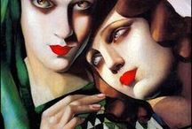 Painting VI / HEWARD Canadian painter known for her intense figure paintings. LEMPICKA Polish painter active in the 1920s and 1930s, who spent her working life in France and the United States.