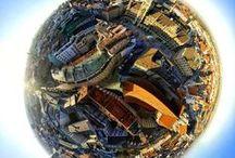 "360° Tinyplanets / Echte 360° Fotos - dargestellt als ""Tinyplanets"""