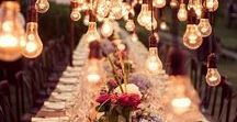 Wedding Table Decor / Wedding Tables that are Gorgeous. Centerpieces, lighting, place settings, flatware, decorations, etc. - get inspired! {table planning, wedding table, head table, guest tables, favor table, wedding favor table, welcome table, wedding welcome table, party planning, party tables, home entertaining, home decor}