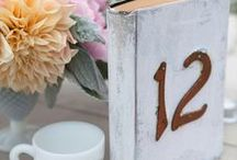 Table Numbers / Clever ideas for incorporating table numbers into your wedding decor.