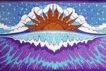Tapestries / Adorn your bed, table or walls with our beautiful and colorful designed tapestries. They feature celtic, hippie, tie dye, batik, and of course rock 'n roll designs. Our tapestries have many uses. You can use them as a wall hanging and make a room or dorm more cozy. They can also be used as a bedsheet, tablecloth or when having a picnic. The uses are endless!  / by Sunshine Daydream Hippie Record Shop