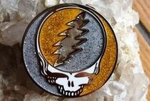 Steal Your Face Designs / The most popular Grateful Dead icon that gets altered, The Stealie, Steal Your Face, SYF . / by Sunshine Daydream Hippie Record Shop