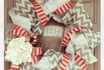 WREATHS / DIY Wreaths - all shapes, colors, and sizes For any Season!