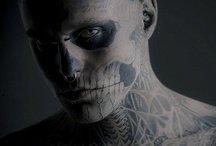 Rico the Zombie / I find Rick Genest to be one of the most inspirational people in the world. His tattoos are absolutely incredible and so is his story. He's now a model for Thierry Mugler and he has done editorial shoots in several magazines. None of these photos were taken by me - but they're some of my favourite photos of him.