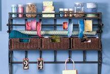 Sew   Organized / Craft and Sewing Room organizational decor ideas