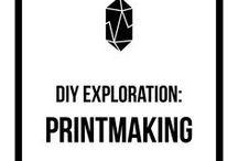 DIY Exploration: Printmaking / printmaking tips, printmaking inspiration, lino, linocut, handmade, creative, DIY, monthly challenge, inspiration, community, exploration, printmaking, printmaker, print