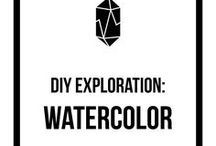 DIY Exploration: Watercolor / watercolor tips, watercolor inspiration, watercolor painting, paint, painting, watercolor, handmade, creative, DIY, monthly challenge, inspiration, community, exploration, paintbrush, painting techniques, painting style