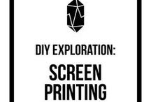 DIY Exploration: Screen Printing / screen printing tips, screen printing inspiration, print, handmade, creative, DIY, monthly challenge, inspiration, community, exploration, printmaker, emulsion, ink, screen printing techniques, printmaking, squeegee