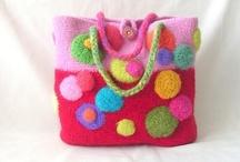 Crochet/knit first and felt afterwards