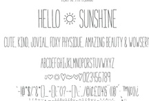 fonts / by Courtney Vanover