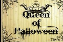 Queen of Halloween / I admit it... I have a Halloween decorating sickness! Especially elegantly weathered looking white and black with pops of orange for Samhain/ Halloween! / by Ellen Dugan