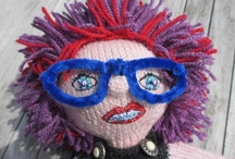Knit and crochet dolls