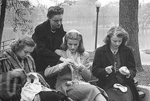 People who knit of crochet