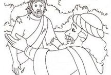 Bible Story✎Coloring Pages / ✎✎✎ Meaningful coloring pages are a great way for visual and hands-on learners to focus on the Bible story they're studying! Teaching is comfortable in the discussion that happens while sweet little ones color, too! ✐✐✐ / by ωαղdα нυɠհєƴ
