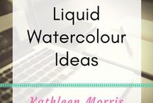 Liquid Watercolour Ideas / Arty ideas to use liquid watercolours with young children