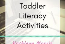 Toddler Literacy Activities / Activities to begin learning about letters, sounds and literacy