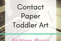 Contact Paper Toddler Art / Simple ideas to create artwork with contact paper
