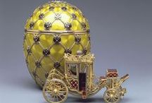 "Fabergé Eggs / Incredible Faberge Eggs make a brilliant Easter basket! Faberge eggs are a limited number of jeweled eggs created by Peter Carl Fabergé and his company between 1885 and 1917. The most famous are those made for the Russian Tsars Alexander III and Nicholas II as Easter gifts for their wives and mothers, often called the ""Imperial"" Fabergé eggs. The House of Fabergé made about 50 eggs, of which 43 have survived."
