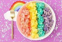 Rainbow Food / Rainbow food is one of the biggest food trends at the moment. It seems you can make every food every colour of the rainbow somehow. Here are ideas and recipes for sweet treats, baked good, assorted healthy salads, unicorn food and incredible desserts that are simply magical.