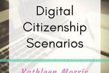 Digital Citizenship Scenarios and Videos / Links to scenarios (videos and written) to help students learn about digital citizenship and internet safety