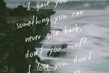 Lyrics / Lyrics I like/love.