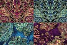 Our Fabrics / Fabric shipments arrive to The Pine Needle Quilt Shop almost daily. Here is a sampling.