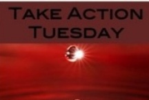 Take Action Tuesday / You care about the world around you but your busy. Take Action Tuesday allows you to share your opinion, contact a member of Congress, take a simple action  - and make a difference.