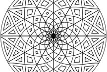 Coloring Pages for Adults of All Ages / Coloring pages, mandalas, and doodling designs for stress reduction, meditation, & food for your inner artist. / by Jill Ness