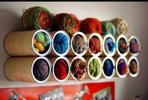 Tips - Organization - Craft Room / So many ways to get your craft room organized.  Repurpose, storage ideas; products & using things already around your house. / by Cammie Jordan