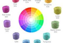 Color Combinations / Inspiration for crocheting colorful projects.