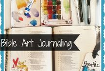 Bible journaling / Ideas to use for Art Journaling in my Bible, Inspirational ideas for Bible journaling.  / by Sandra Lee England