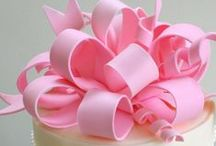 Bows on cakes, desserts, and Sweets! / Cakes and Sweets with Pretty Fondant or Gum Paste Bows!