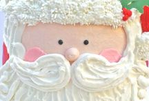 Santa Cakes, Cupcakes, and Sweets / Featuring favorite Santa cakes, cupcakes, cookies, and Sweets!