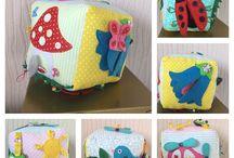Развивающие кубики / Развивающие мягкие кубики для детей
