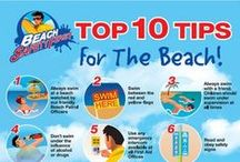 Beach Safety / Keep you and your children safe on the beach with these beach safety tips and tricks. From getting lost to getting stung by a jelly fish. We have lots of beach safety tips to help your family on the beach.