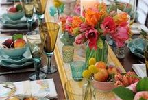 Tablescapes, Centerpieces, napkins... / by Korine Miller