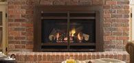 """Gas Fireplaces & Inserts / A gas insert gets """"inserted"""" into your existing fireplace to make it useful and efficient again!"""
