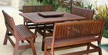 Wood Patio Furniture / Jensen Leisure Furniture is made of 100% heartwood. The heartwood portion of a log is the most dimensionally stable and is only found in slow-growing, century old trees.