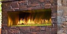 Outdoor Fireplaces / Relaxing outside by the fire is just pure enjoyment!