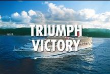 Triumph Class Ships / Everyone wins onboard the Triumph Class ships, which includes Carnival Triumph and Carnival Victory. Pick your winners from our pins below and check out more at Carnival.com/cruise-ships.   Hashtags denote which ships have the pinned features.     Repin our posts to create your own vacation inspiration. / by Carnival Cruise Line