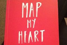 Map My Heart / Pages from Dom & Ink's excellent book, Map My Heart