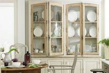 Organizing | China Cabinets / These stylish helpers show off your favorite china pieces and bring color and charm to any room! Organizing China Cabinets, Hutches & Cupboards / by Helena Alkhas