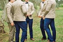 Groomsmen | Members of the Bridal Party / Style inspiration for the groomsmen!
