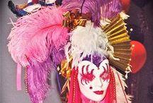 Mardi Gras/Masquerade / Masks and faces and beads and bling for a masquerade or Mardi Gras party.