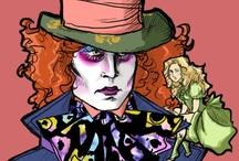 Alice in Wonderland / Alice in Wonderland centerpieces, placecards and ideas.