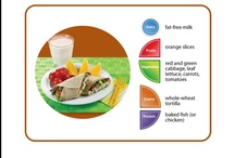 "MyPlate  / Think ""food pyramid"" on a plate!"