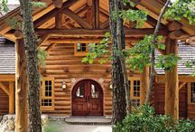 Log homes & lake houses  / I need to live in one of these!  / by Amber Murray